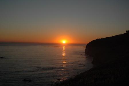 Sonnenuntergang an der Küste des Pazifiks