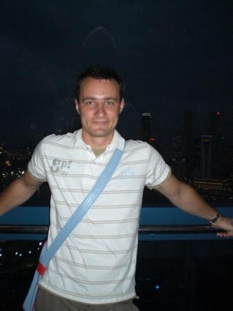 Robert im Singapore Flyer